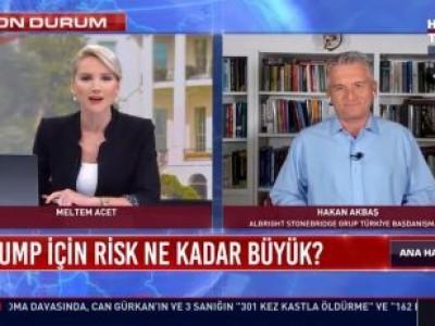 Akbaş spoke to Habertürk on Trump's Catching Covid19
