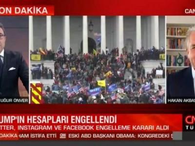 CNN Türk'de Kongre binası saldırısı sonrası Trump'ın sosyal medya hesaplarının engellenmesini değerlendirdik