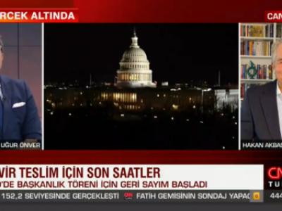 CNN Türk'de ABD Başkanlık Töreni ayrıntılarını Uğur Önver ile değerlendirdik