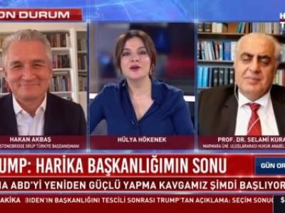 Haber Türk'de Kongre Binası saldırısı sonrasında Trump'ın açıklamalarını değerlendiriyoruz