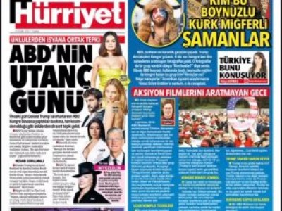 We discussed on Hurriyet newspaper the pictures which were taken at the US Capital during protests