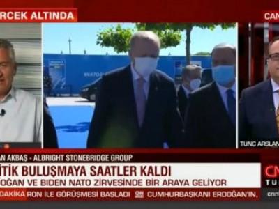 CNN Türk'de Tunç Arslanalp ile NATO Zirvesinde iki liderin buluşmasını değerlendirdik