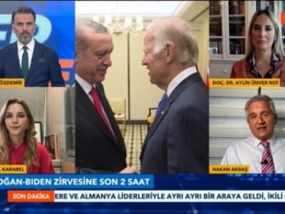 Tv Net'te Cüneyt Özdemir moderatörlüğünde Dr. Sibel Karabel ve Doç. Dr. Aylin Ünver Noa ile iki Başkanın ilk yüzyüze görüşeceği zirveyi değerlendirdik
